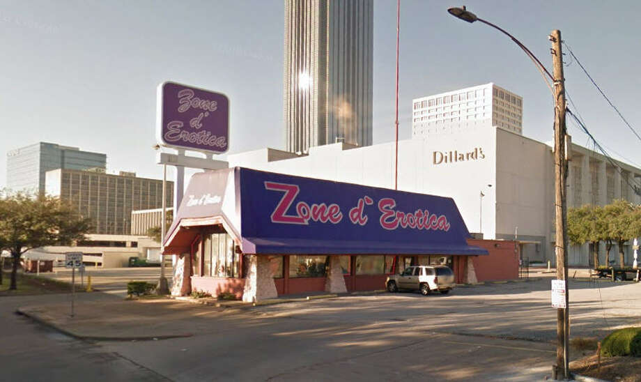 PHOTOS: Strange Houston zoning examples For over a decade the Zone d'Erotica location adjacent to Dillard's and a Shell station has stood as a monument to Houston's lack of zoning laws. The building has housed a smoke shop, a Luke's Hamburgers, and a Roy Rogers before it was selling adult toys and movies.Click through to see Houston's strangest locations...   Photo: Google Maps