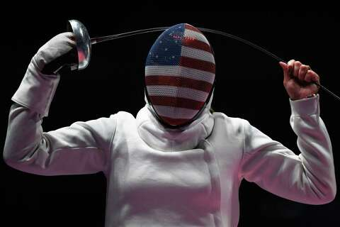 USA s Courtney Hurley reacts during the women s team epee bout against  South Korea at the Rio 2bf837c73d09