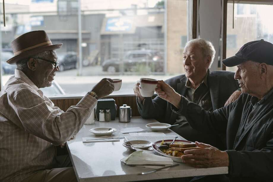 "In this image released by Warner Bros. Pictures, Morgan Freeman, from left, Michael Caine and Alan Arkin appear in a scene from ""Going in Style."" (Atsushi Nishijima/Warner Bros. Pictures via AP) Photo: Atsushi Nishijima, Associated Press"