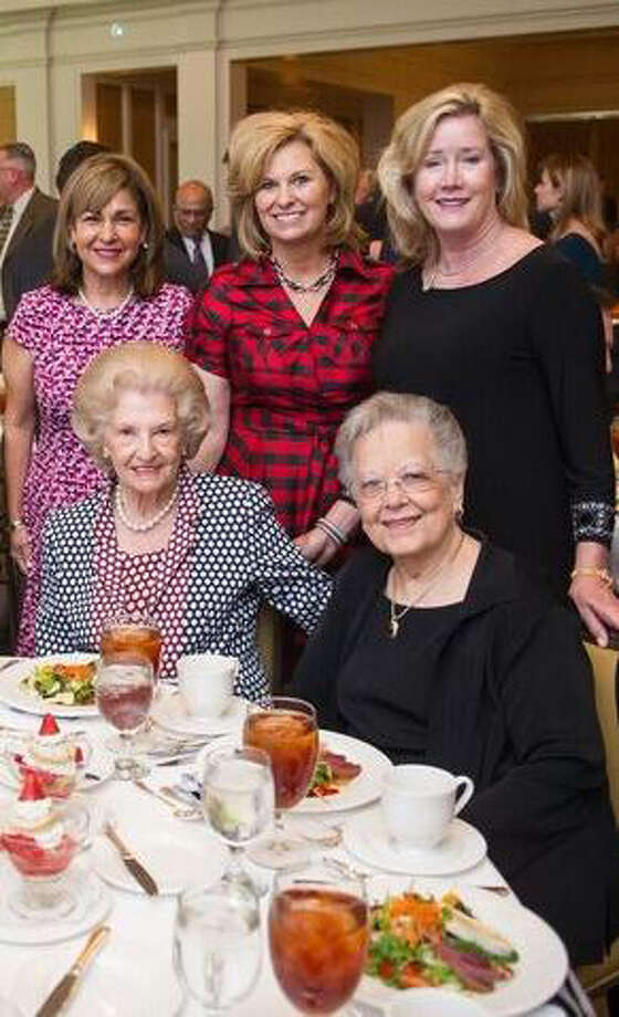 From left, seated, are Raye White and Rose Carrabba; Standing Mary Bergeron,Tamara Smith and Ellen Mosher Photo: CHRISTUS Foundation For HealthCare