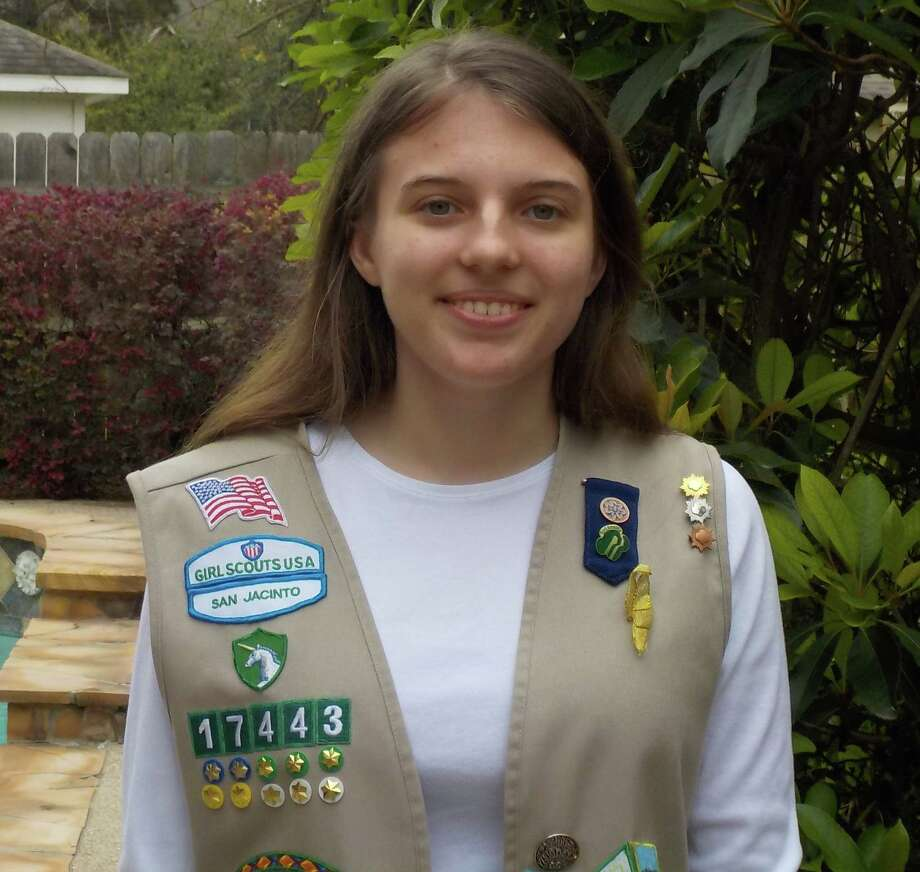 Michelle Pakel, a sophomore at Memorial Private High School, has earned the Girl Scout Gold Award, the highest honor in Girl Scouting. To earn the award, Pakel worked with Texas Wildlife Rehabilitation Coalition (TWRC) Wildlife Center to raise awareness about the importance of protecting wildlife and pet care. Photo: Girl Scouts Of San Jacinto Council