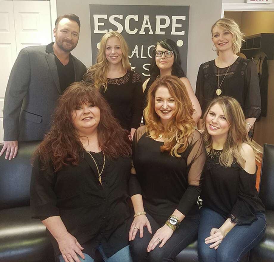The staff at Escape, a salon at 70 Edwardsville Professional Park. Photo: For The Intelligencer
