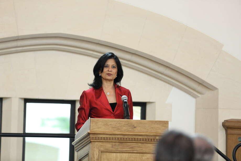 Dr. Renu Khator at Breakthrough Photo: Amber Elliott