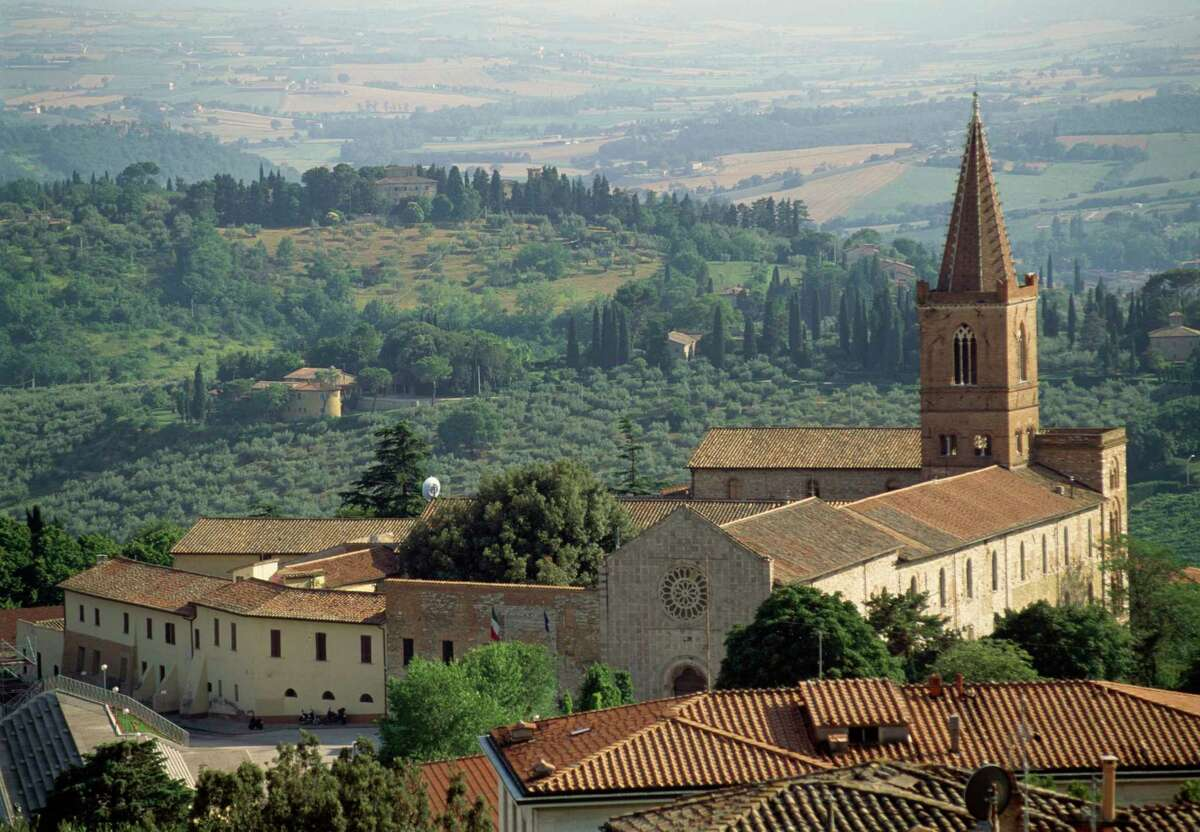 Church of St Giuliana, Umbria, Perugia, Italy, 13th century. (Photo by DeAgostini/Getty Images)