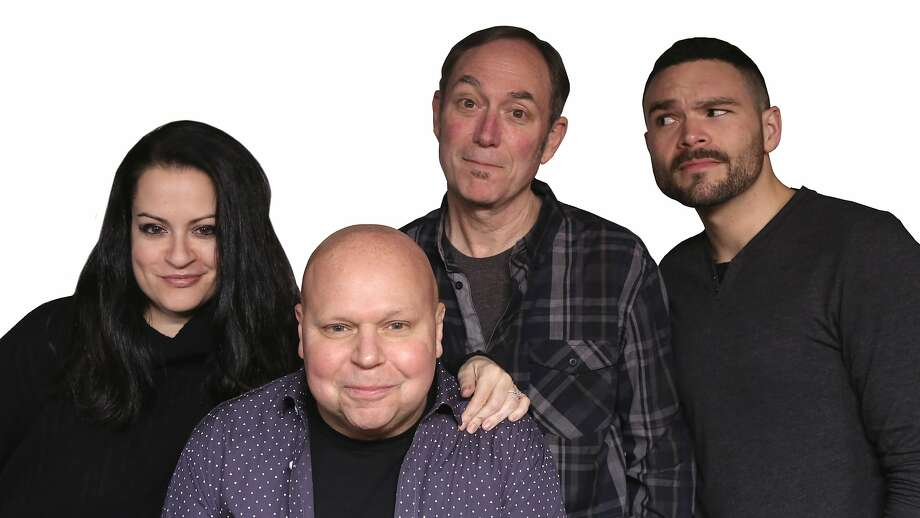 KFOG's morning team now includes Alicia Tyler (left), Matt Pinfield, Bryan Schock and Arthur Ballesteros. The DJs have given Pinfield a lot of support since his return from rehab. Photo: Matt Ashlock