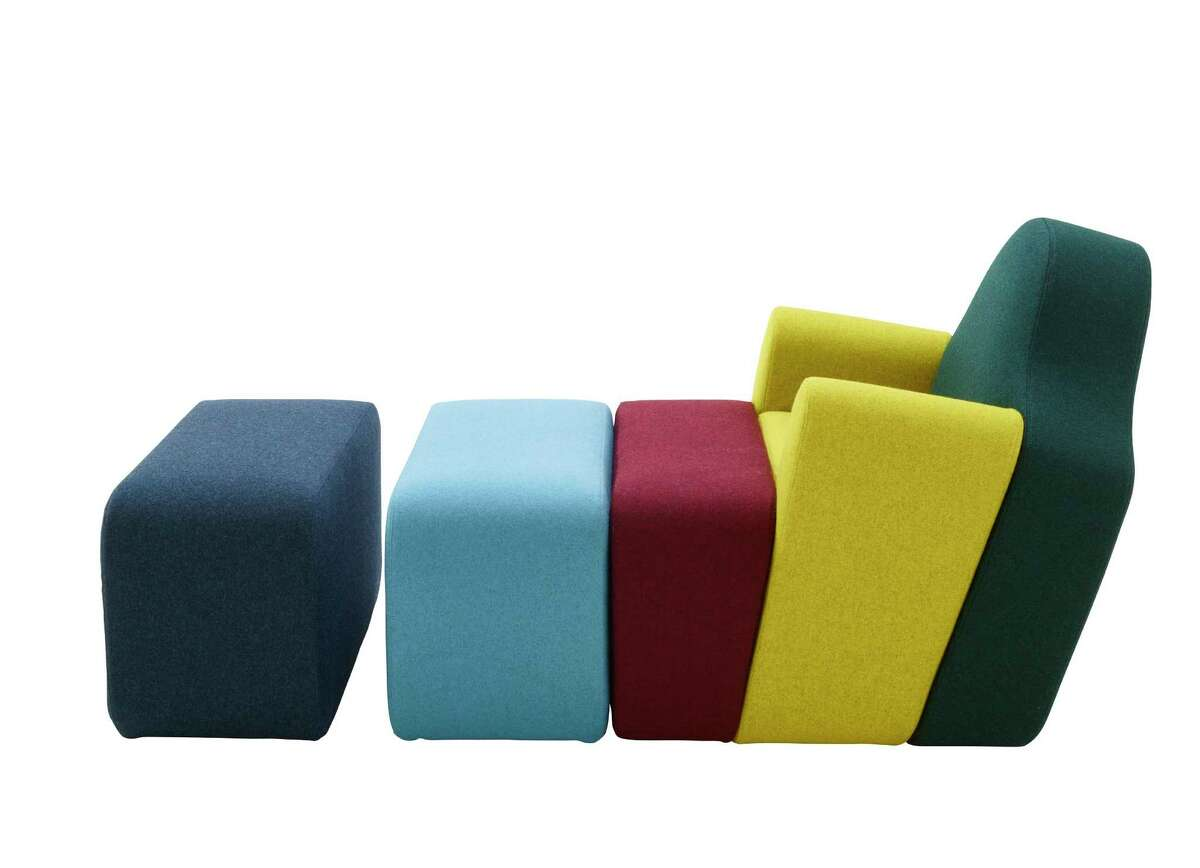 The Slice armchair, designed by Pierre Charpin, is available at Ligne Roset.