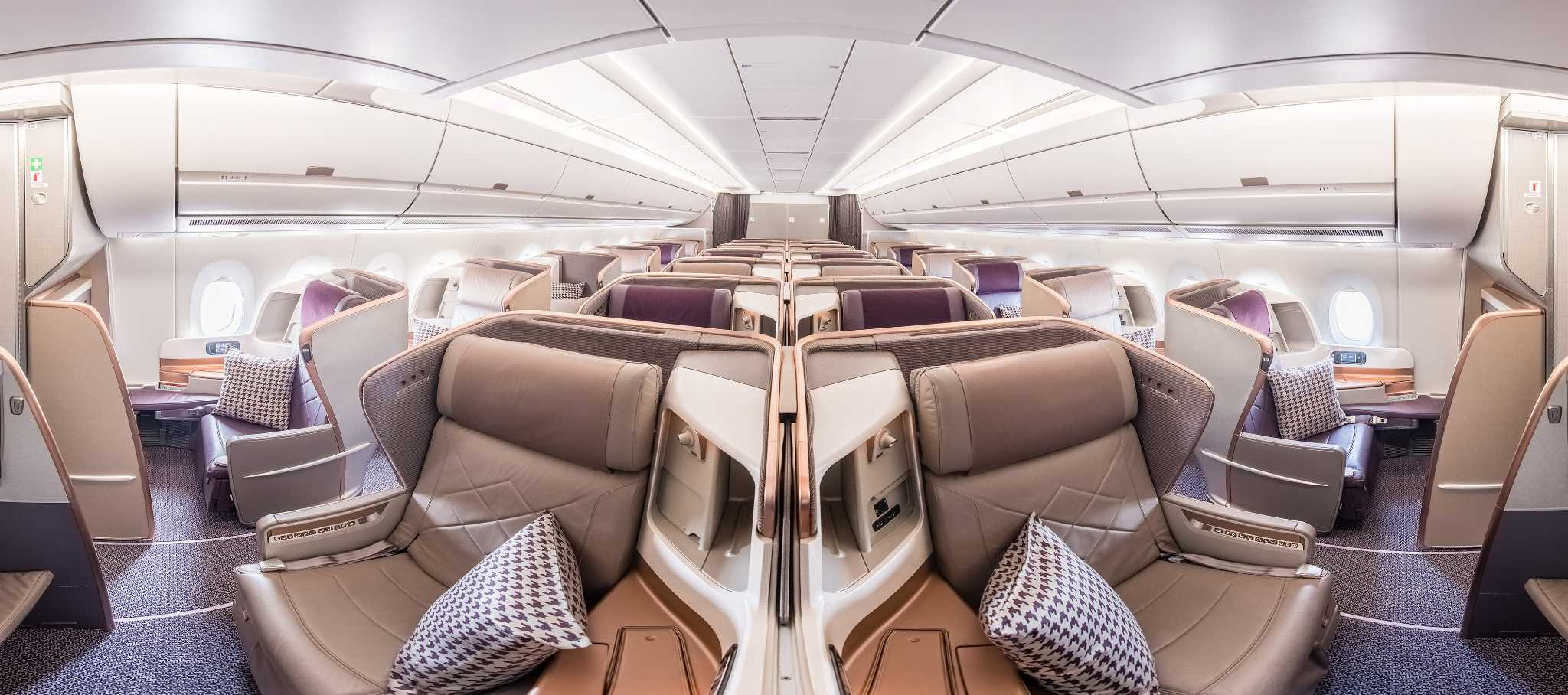 Singapore Airlines A350 Business Class Cabin Delivers