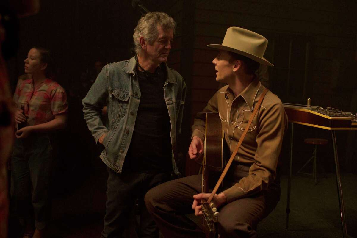 """Executive Music Producer Rodney Crowell and Tom Hiddleston on the set of """"I Saw the Light."""" The movie opens at Bay Area theaters on Friday, April 1.Photo by Sam Emerson, Courtesy of Sony Pictures Classics"""