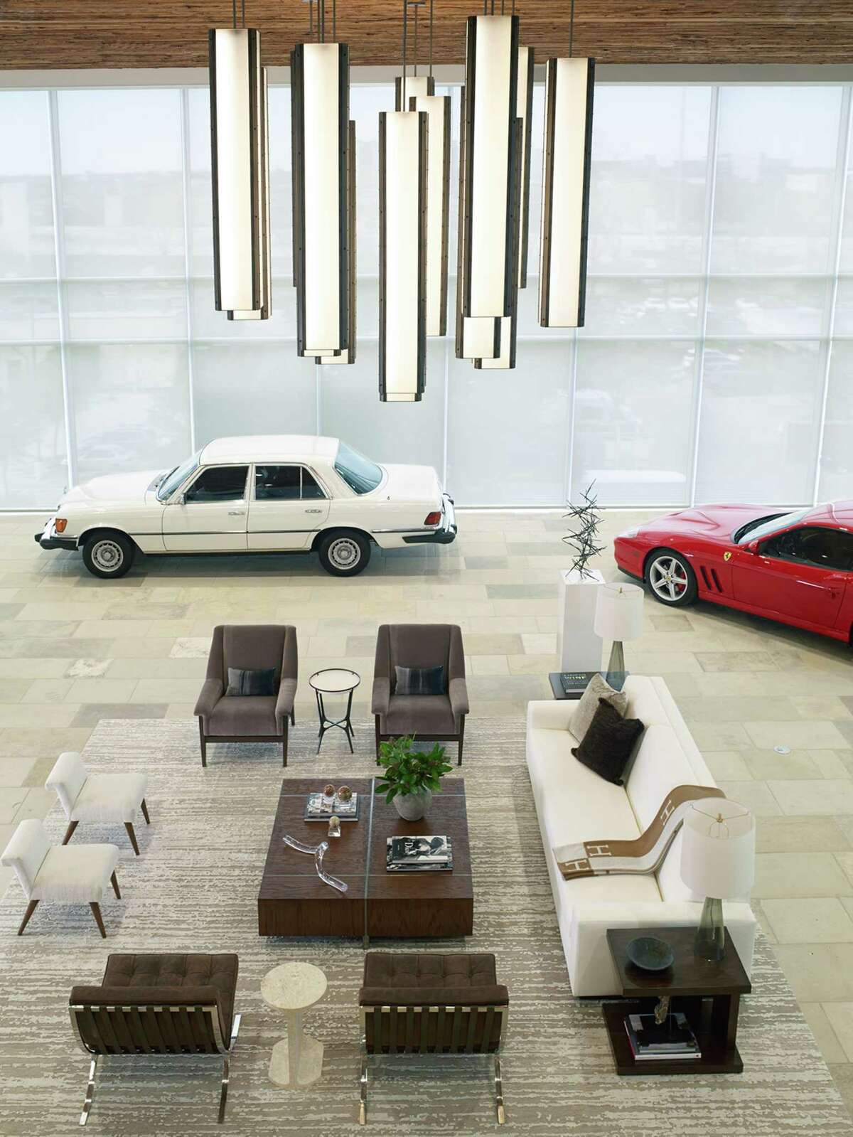 Ken Enders of Mercedes Benz of Sugar Land has added a 6,000-square-foot space to his Sugar Land showroom for business events and to entertain VIP customers. Part of his own car collection is on display.