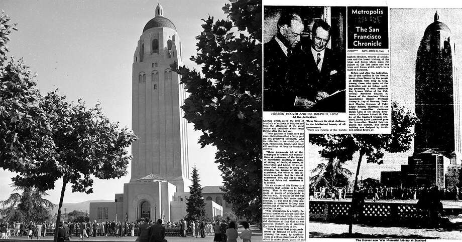 The Hoover Tower on Stanford University's campus was covered by The Chronicle in 1941.