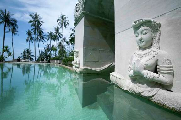 The lap pool at Kamalaya Koh Samui
