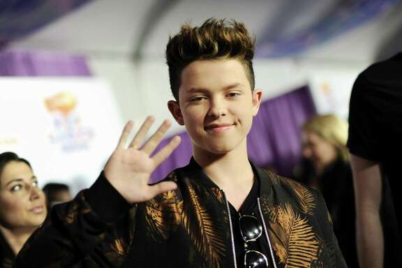 Singer Jacob Sartorius, pictured at Nickelodeon's 2017 Kids' Choice Awards, will entertain his young fans at the Aztec Theatre on Friday.