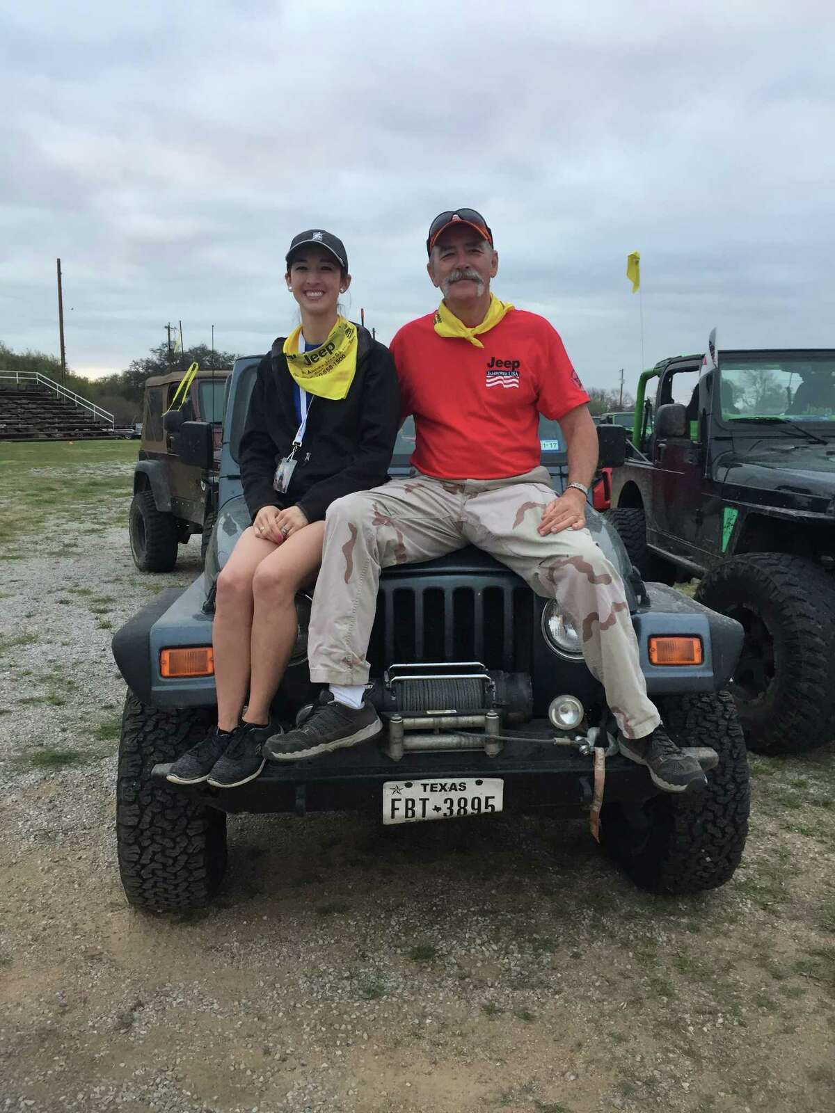 For more than 20, Amanda Boyd and her father Lee Zalesky have attended Jeep Jamborees, which are scenic and challenging drives for Jeep aficionados. In March 2017, they posed during the Texas Spur Jeep Jamboree. With 23 years of experience, Zalesky, a retired San Antonio firefighter, is the longest running trail guide for the Jeep Jamboree USA organization. Amanda Boyd graduated from Antonian College Preparatory High School and is the athletic trainer at Alamo Heights High School.