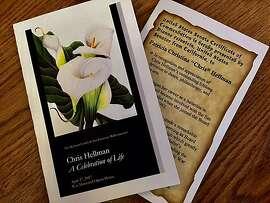Chris Hellman memorial program and Senate tribute from Dianne Feinstein