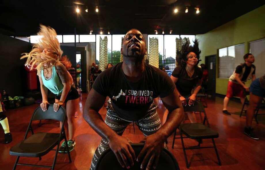 Johnson teaches a chair dancing class. Photo: Annie Mulligan / For The Houston Chronicle / @ 2017 Annie Mulligan & the Houston Chronicle