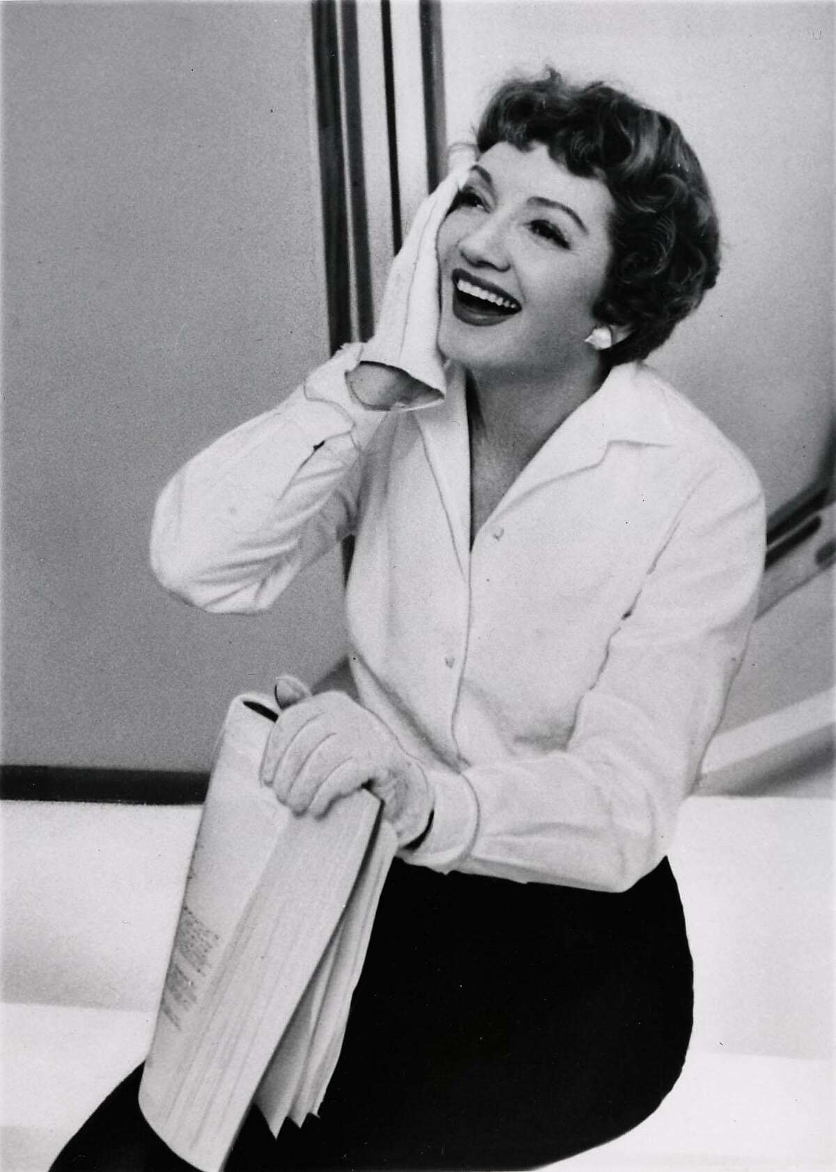 Claudette Colbert, actress. Claudette Colbert doesn't know how she developed her famous chuckle, but admits the joyously infectious chortle is part of the Colbert identity.