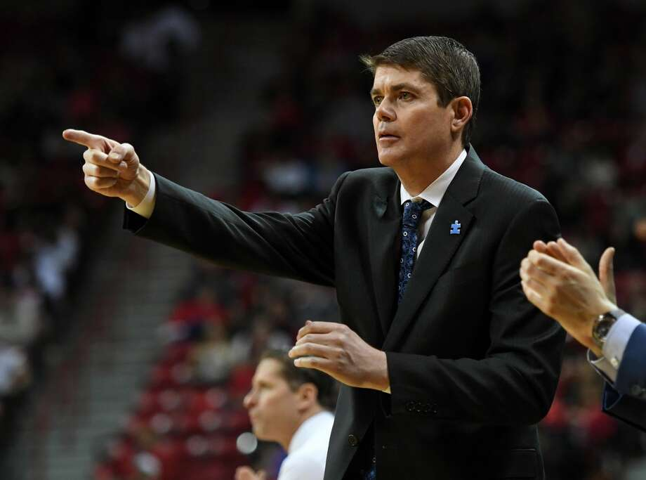 Assistant coach Dave Rice of the Nevada Wolf Pack gestures to players during their game against the UNLV Rebels at the Thomas & Mack Center on February 25, 2017 in Las Vegas, Nevada. Nevada won 94-58.  (Photo by Ethan Miller/Getty Images) Photo: Ethan Miller/Getty Images