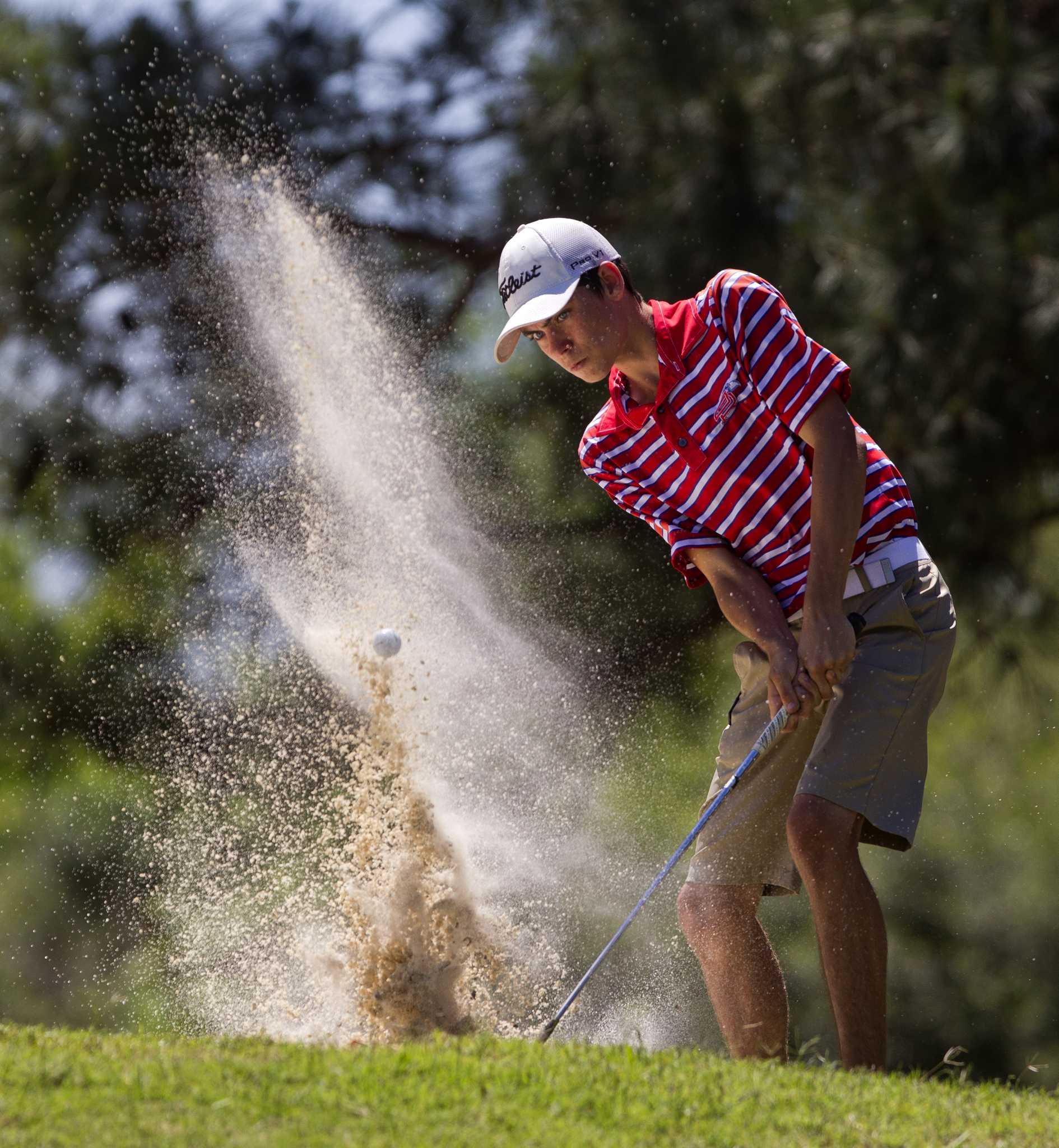 golf montgomery college park boys lead 12 6a tournament