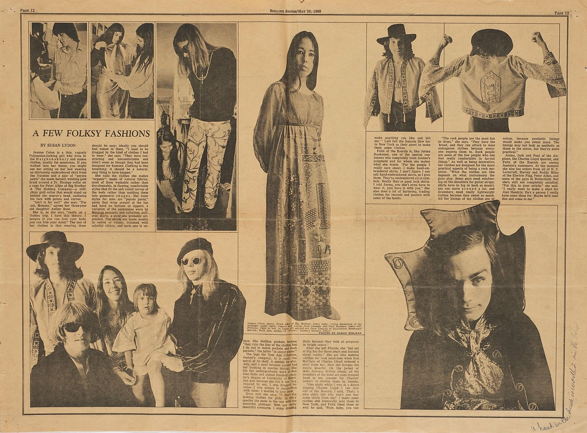 Images from fashion designer Jeanne Rose's scrapbooks, 1966-1973