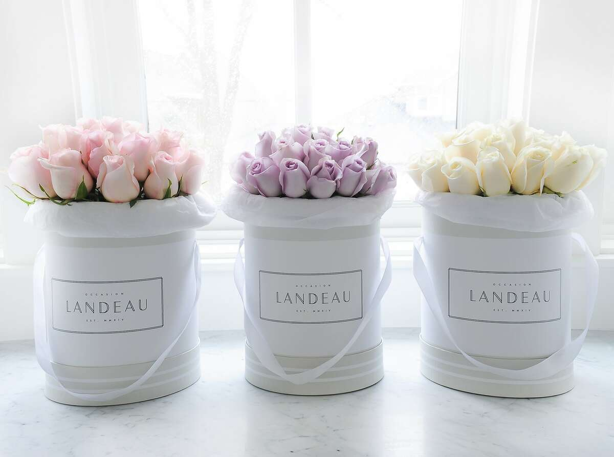 """Flowers from Landeau, a just launched in San Francisco rose delivery service which aims to be the """"anti-foraged flowers"""" with it's simple bouquets."""