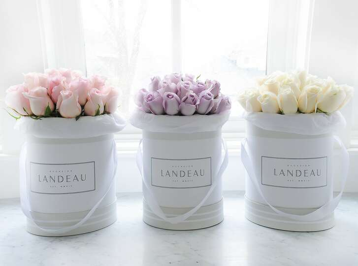 "Flowers from Landeau, a just launched in San Francisco rose delivery service which aims to be the ""anti-foraged flowers"" with it's simple bouquets."