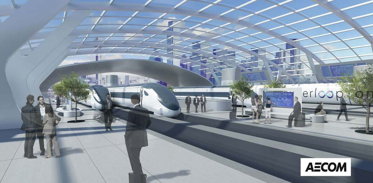 The proposal for a Hyperloop between Houston, San Antonio, Austin and Dallas would include stops, similar to trains stations, in the metro areas.