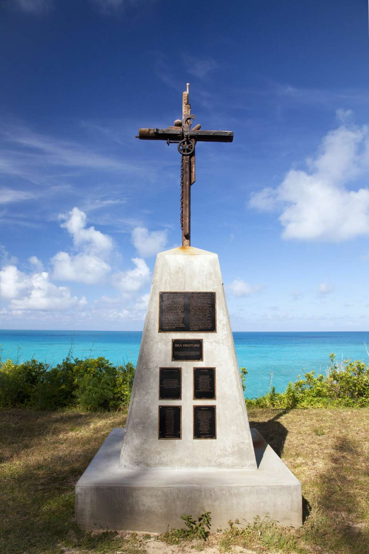 The Sea Venture When: 1609 Tale: The Sea Venture wrecked near the eastern end of Bermuda in a 1609 storm as it brought the first English settlers to the island. A memorial was erected in 2009 in St. George, Bermuda, to the survivors of the shipwreck.