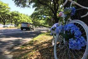 A ghost bike has been placed on Main Street to honor Marjorie Corcoran, a Rice professor who was struck and killed by a Metro train while riding her bicycle to campus.