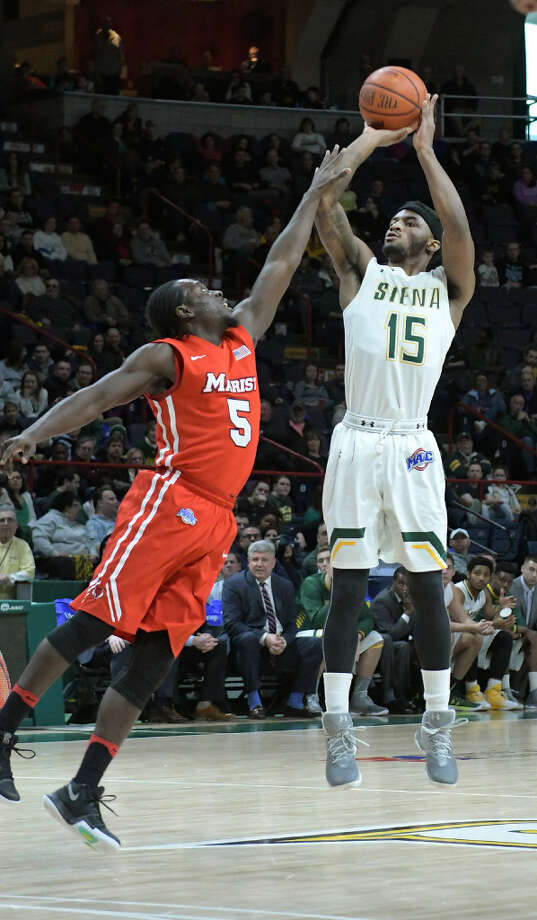 Siena guard Nico Clareth is the team's only returning player who averaged 10 or more points per game. (Paul Buckowski/Times Union)