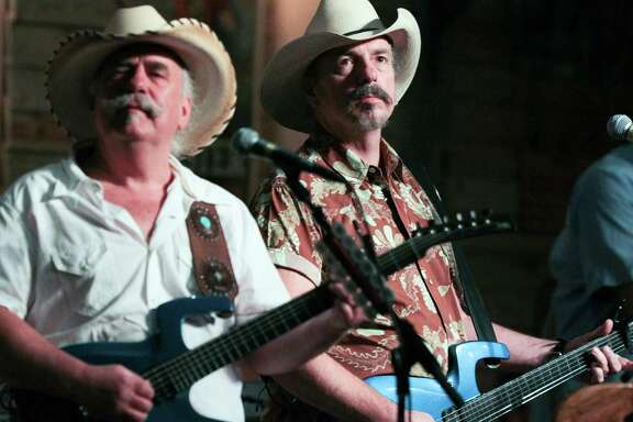 The Bellamy Brothers performing at the Dosey Doe.