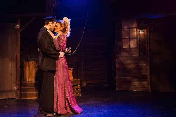 """From left: Joshua Marx as Matt and Allison F. Rich as Anna in 42nd Street Moon's """"New Girl in Town."""""""