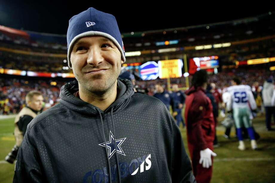 LANDOVER, MD - DECEMBER 7: Quarterback Tony Romo #9 of the Dallas Cowboys walks off of the field after a win over the Washington Redskins 19-16 at FedExField on December 7, 2015 in Landover, Maryland. (Photo by Rob Carr/Getty Images) ORG XMIT: 587435981 Photo: Rob Carr / 2015 Getty Images
