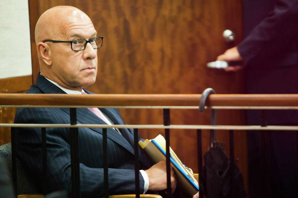 Texas Sen. John Whitmire (D-Harris) sits in court waiting for the hearing on which the attorney of Shannon Miles will ask the judge to halt the expedited transfer of Miles to a psychiatric facility that had been arranged by the senator. Monday, March 8, 2016 in Houston. (Marie D. De Jesus/Houston Chronicle)