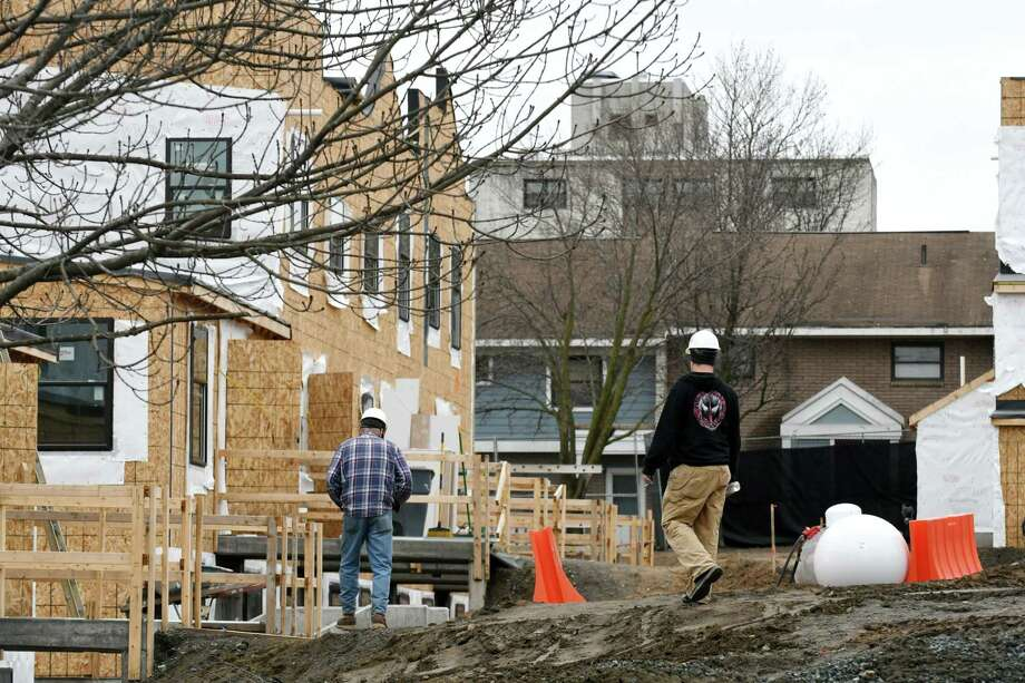 Construction work continues to townhomes in the Ida Yarbrough housing complex on Tuesday, April 4, 2017, on Manning Blvd., in Albany, N.Y. (Will Waldron/Times Union) Photo: Will Waldron / 20040145A