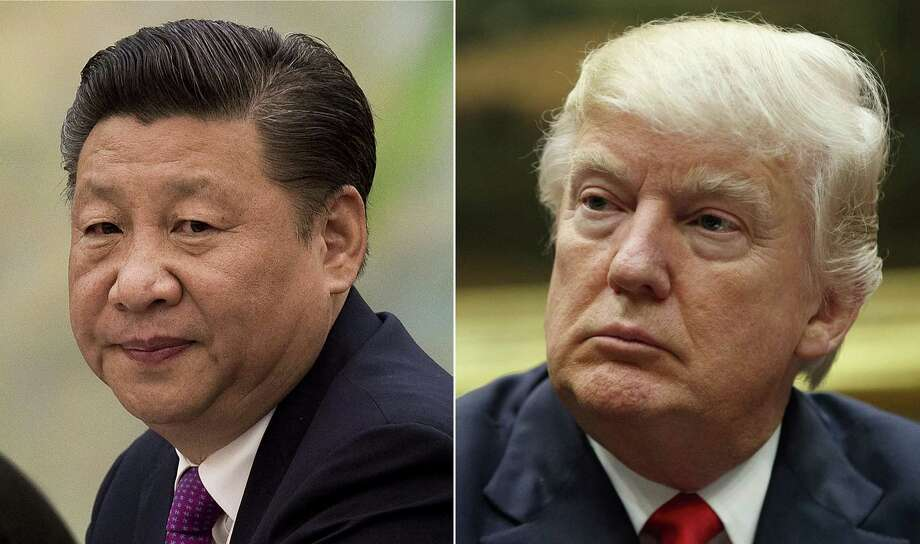 The questions about President Donald Trump's (left) trade plans take new urgency this week ahead of his first meeting with President Xi Jinping (right) of China, scheduled for Thursday and Friday at the president's Mar-a-Lago Club in Florida. Photo: Associated Press Photo Combination / Copyright 2017 The Associated Press. All rights reserved.