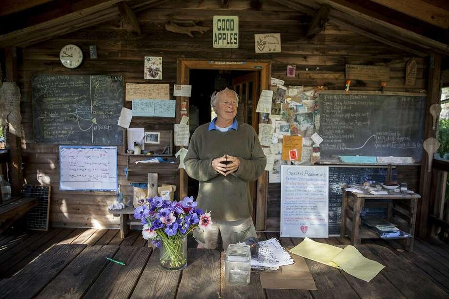 Garden manager Orin Martin at the Alan Chadwick Garden in Santa Cruz. Photo: Peter DaSilva