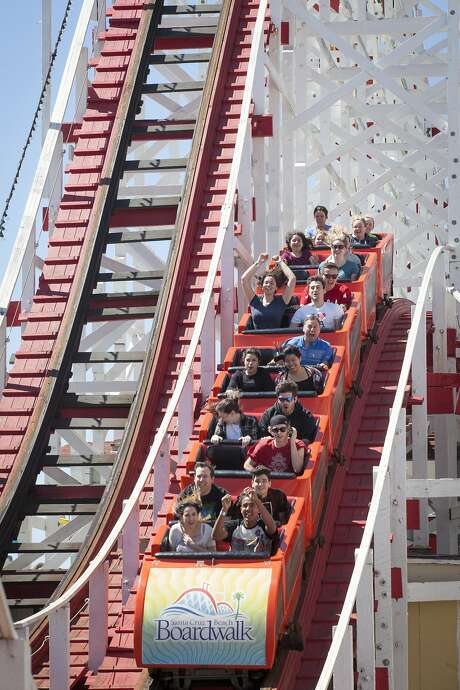 The Giant Dipper at the Santa Cruz Beach Boardwalk is turning 93 this year. Photo: Peter DaSilva