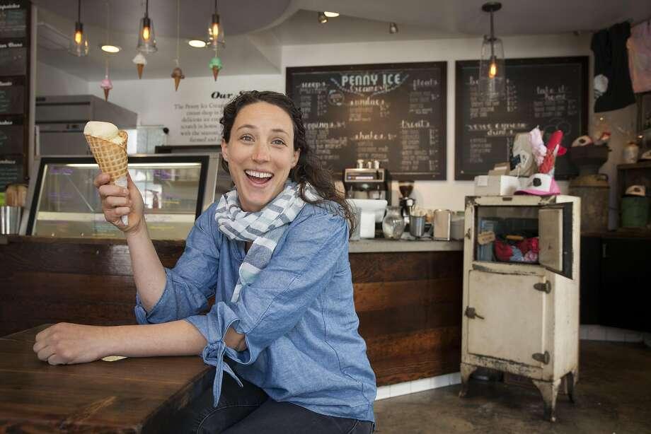 Kendra Baker, owner of Penny Ice Creamery. Photo: Peter DaSilva