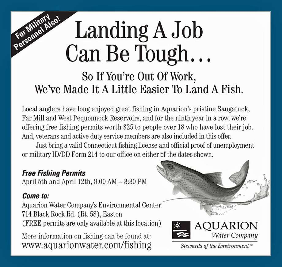Aquarion offering free fishing permits for vets for Age requirement for fishing license