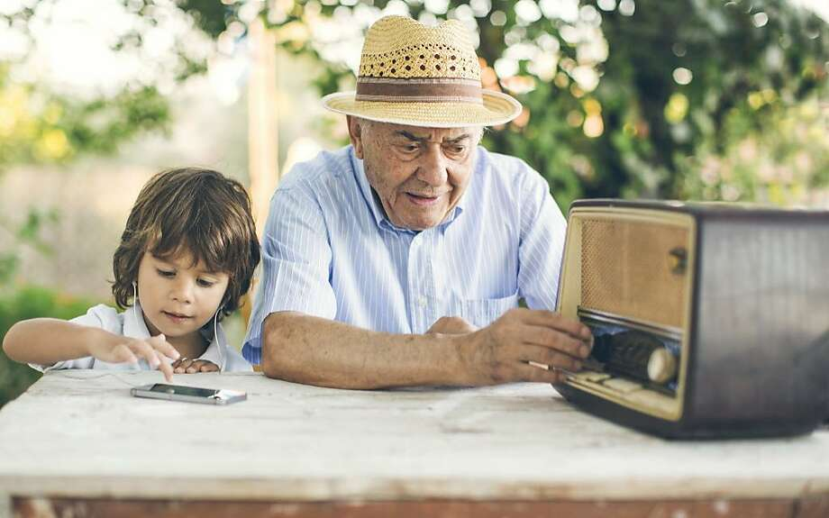 A mom wishes her kid and grandparents would find a way to communicate with each other. Photo: Thanasis Zovoilis, Getty Images
