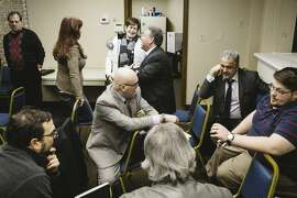 A recent meeting of the Mahoning County Democratic Party in Youngstown. MUST CREDIT: photo for The Washington Post by Andrew Spear.