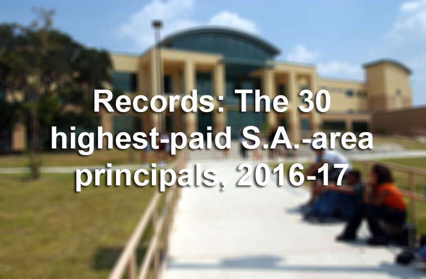 Click through the gallery to see how much the highest-paid principals at San Antonio-area schools were paid in the 2016-17 school year.