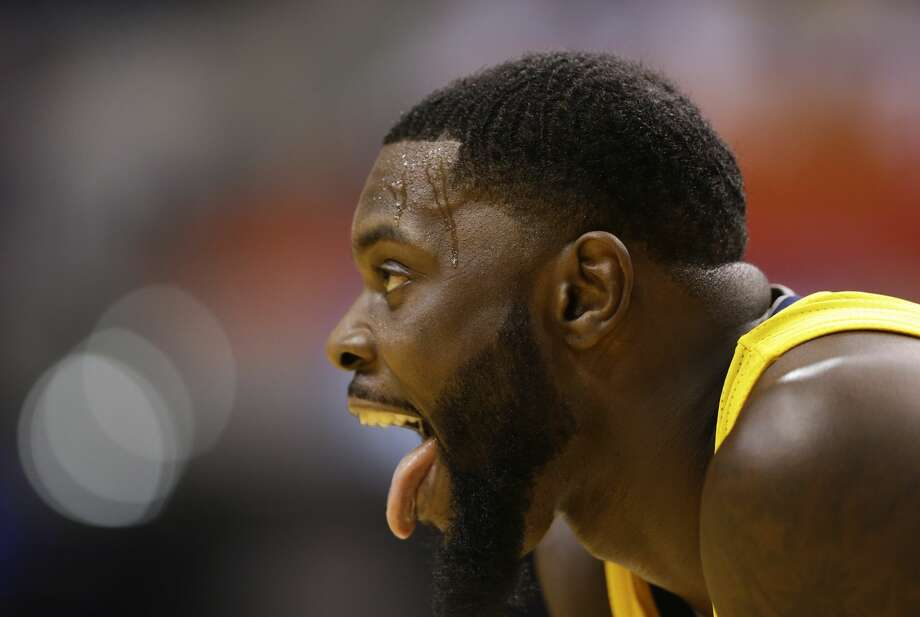 Indiana Pacers guard Lance Stephenson (6) makes a face during a break in the second half of an NBA basketball game against the Toronto Raptors in Indianapolis, Tuesday, April 4, 2017. The Pacers defeated the Raptors 108-90. (AP Photo/Michael Conroy) Photo: Michael Conroy/Associated Press