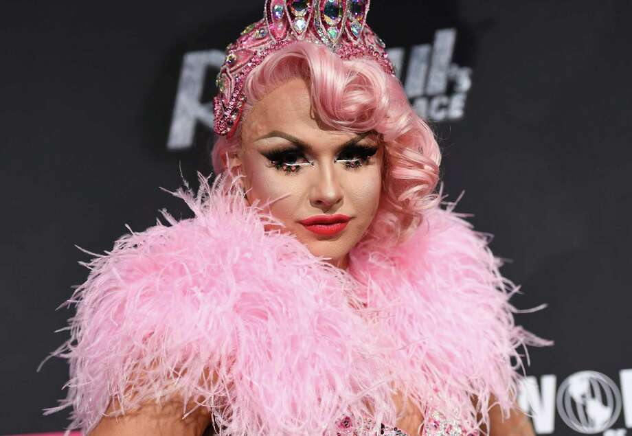 """Contestant Farrah Moan attends """"RuPaul's Drag Race""""- Season Premiere party on March 7, 2017 in New York City. / AFP PHOTO / ANGELA WEISSANGELA WEISS/AFP/Getty Images Photo: ANGELA WEISS, AFP/Getty Images / AFP or licensors"""