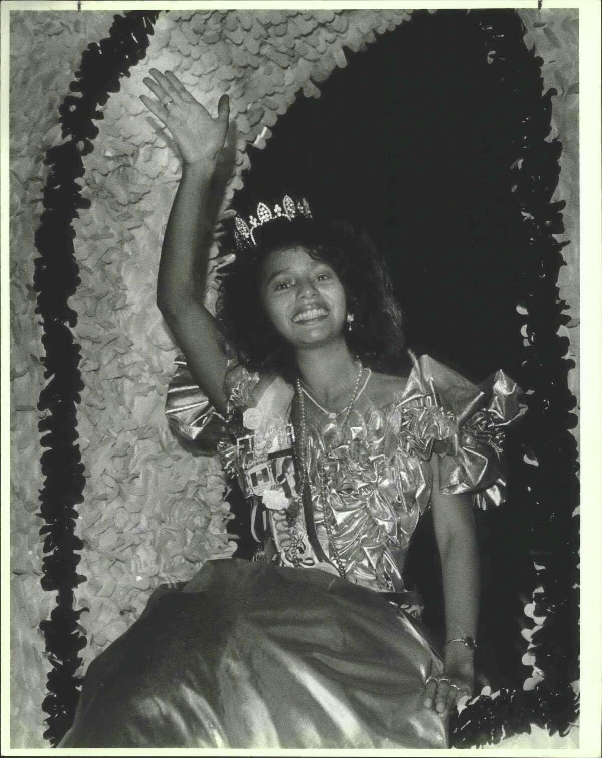 Laura Hernandez Feria de Las Flores, Fiesta Queen, Flambeau