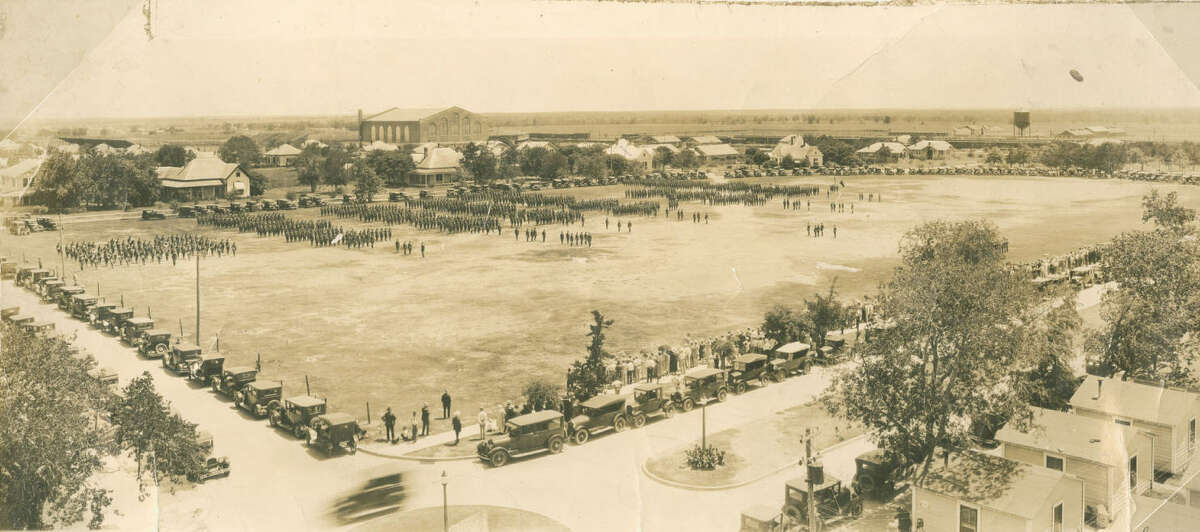 Click ahead to view vintage photos from College Station and Texas A&M's past.CIRCA 1920: The Texas A&M drill field.