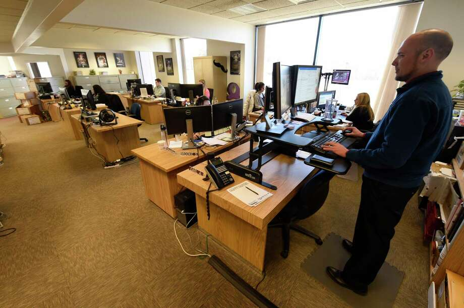 Office staff at the Stewart's headquarters Thursday Mar. 3, 2017 in Saratoga Springs, N.Y.  (Skip Dickstein/Times Union) Photo: SKIP DICKSTEIN / 20039849A