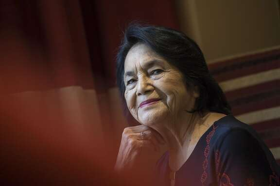 Dolores Huerta, 87, the co-founder of United Farm Workers, visits Denver, CO for an April 4, 2017 Women+Film Festival screening of a new documentary showcasing her life and activism.
