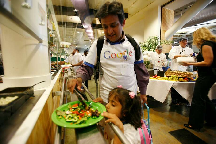 You have to pay for lunch at Apple, but Google offers up a free smorgasbord. Photo: Mike Kepka, SFC