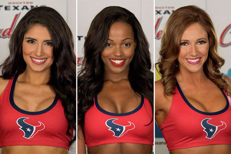 Danielle C., Adriana S. and Olivia W. are finalists for the 2017 Houston Texans cheerleader squad. Photo: Photos Provided By The Houston Texans